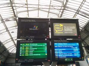 Paris Gare de l'Est läuft noch auf Windows XP.