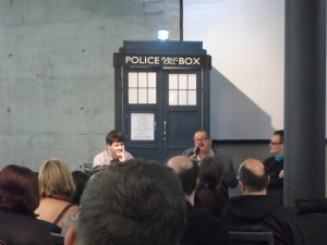 Panel mit Terrance Dicks und Andrew Cartme #Timelash #DoctorWho