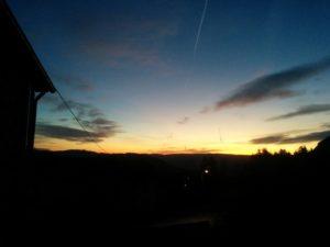 Sonnenaufgang in der Eifel.