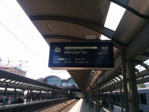 Mit 35 Minuten Verspätung hat alles angefangen ..., Mainz Hbf