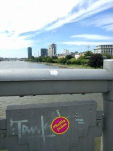 Kein Selfie am #Selfiepoint in Frankfurt