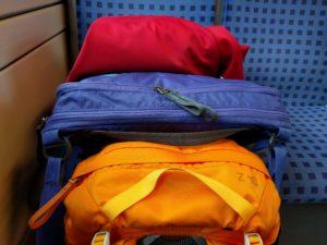 Auf dem Weg nach Paris, na ja, noch in der Regionalbahn nach Mannheim.
