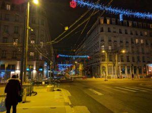 Lyon, auf dem Weg ins Hotel.