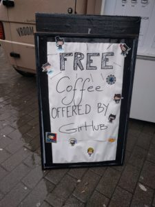 Free coffee offered by GitHub