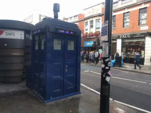 Police box outside Earl's Court tube station.