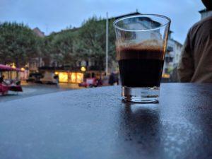Doppelter Espresso, Kaffeerösterei Müller, Mainzer Wochenmarkt.