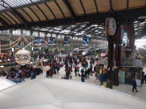 Paris Gare de Lyon, nach einem Kaffee geht es gleich weiter.