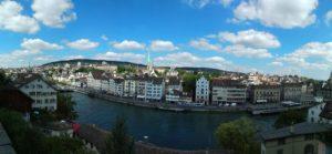 Zürich vom Lindenhof aus gesehen.