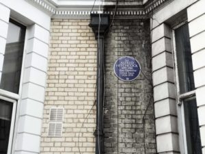 Blue Plaque: Alfred Hitchcock.