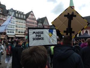 Bestes Poster beim March for Science.