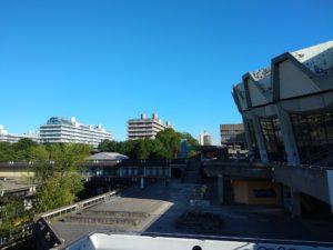 Sonne über der Ruhr-Universität Bochum.