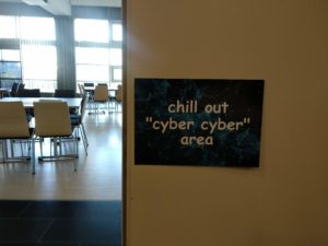 "chill out ""cyber cyber"" area."