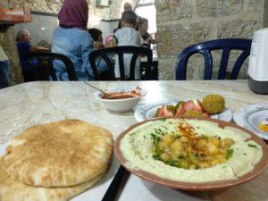 Beweisfoto: Ich hab' im Abu Shukri gegessen