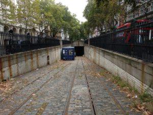 Schienen der alten Londoner Tram