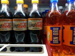 Cola mit festlichem Clementinengeschmack.