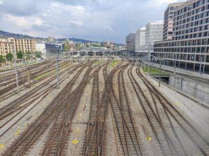 Zürich Hauptbahnhof, der grösste Bahnhof der Schweiz.