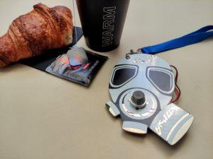 Electronic Badg, Earl Grey und Croissant.