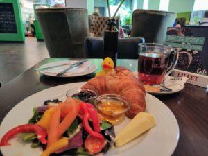 Zweites Frühstück mit Ente.